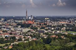 Krakow, view from the mound. Krakow, view of the city from the mound of Kosciuszko Royalty Free Stock Images