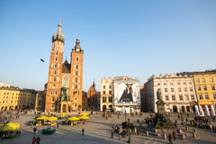 Krakow. View of the Main Square. It dates to the 13th century Stock Images