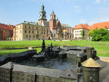 Krakow. The Wawel Castle. The Cathedral Stock Images