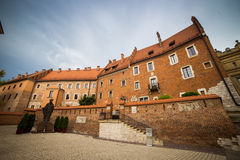 Krakow - Wawel castle at day,Wawel hill with cathedral and castl royalty free stock photo