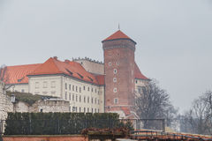 Krakow - Wawel castle at day Stock Image