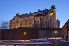 Krakow - Wawel Castle at night - Poland Stock Photos
