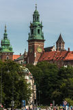 Krakow, Wawel castle. Krakow, Poland - June 12, 2015: View of Wawel royal castle Stock Photography