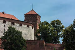 Krakow, Wawel castle. Krakow, Poland - June 12, 2015: View of Wawel royal castle Royalty Free Stock Photo