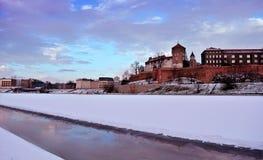 Krakow Wawel Winter Time Royalty Free Stock Photos