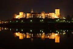 Krakow Wawel at night Royalty Free Stock Photo