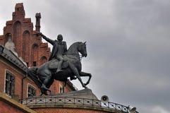 Krakow - Wawel skulptur Arkivbild