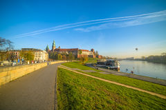 Krakow Wawel view Stock Photography