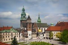 Krakow Wawel yard roof view Royalty Free Stock Photo