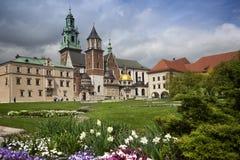 Krakow Wawel yard view Stock Images