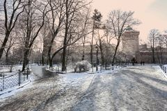 Krakow / winter / Florian gate. Poland Royalty Free Stock Photo