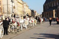 Krakowscy frachty Zdjęcia Stock