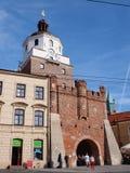 Krakowska Gate, Lublin, Poland Stock Photos