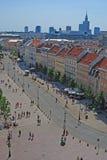 Krakowskie Przedmiescie Street at Warsaw Old Town Royalty Free Stock Photos