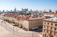 Krakowskie Przedmiescie gata i Warszawa Arkivfoton