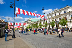 Krakowskie Przedmiescie Street, Warsaw Stock Photos