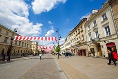 Krakowskie Przedmiescie Street, Warsaw, Poland Stock Image