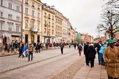 Krakowskie Przedmiescie, Warsaw Stock Photos