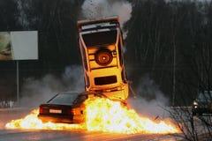kraksa samochodowa Zdjęcia Royalty Free