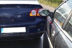 Kraksa samochodowa karambolu wypadkowy szczegół zdjęcia stock