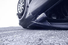 Kraksa samochodowa, szczegół Obrazy Royalty Free