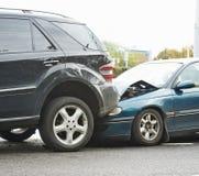 Kraksa samochodowa wypadek na ulicie fotografia royalty free