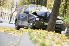 Kraksa samochodowa wypadek uliczny obrazy stock