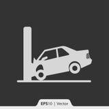 Kraksa samochodowa z ścienną ikoną dla sieci i wiszącej ozdoby Fotografia Royalty Free