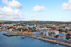 Kralendijk, Bonaire - 12/16/17 - Downtown views of the town of Kralendijk, Bonaire. Downtown views of the town of Kralendijk, Bonaire royalty free stock photography