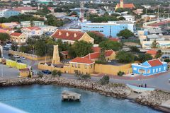 Kralendijk, Bonaire - 12/16/17 - Downtown views of the town of Kralendijk, Bonaire. Downtown views of the town of Kralendijk, Bonaire royalty free stock image