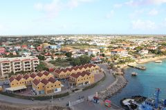 Kralendijk, Bonaire - 12/16/17 - Downtown views of the town of Kralendijk, Bonaire. Downtown views of the town of Kralendijk, Bonaire stock photography