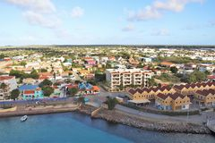 Kralendijk, Bonaire - 12/16/17 - Downtown views of the town of Kralendijk, Bonaire. Downtown views of the town of Kralendijk, Bonaire stock photo