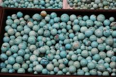 Kralenversiering en stenen op Chinese Markt stock afbeelding
