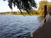 Kralingen湖,鹿特丹,荷兰 免版税图库摄影