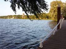 Kralingen sjö, Rotterdam, Nederländerna Royaltyfri Fotografi