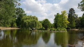 Kralovska park Obora-Stromovka Royalty Free Stock Photography