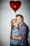 Kram av förälskelse Fotografering för Bildbyråer