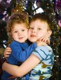 Kram för två bröder Royaltyfria Bilder
