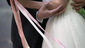 krama för brudbrudgum lager videofilmer