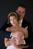 krama för brudbrudgum Fotografering för Bildbyråer
