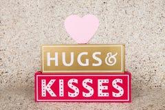 kramar ljus hjärta 3d det röda framförandet för kyssar Arkivbild