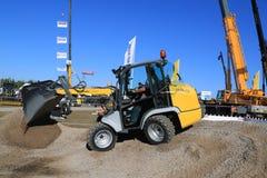 Kramer Allrad 350 Wheel Loader Unloads Gravel Stock Photo