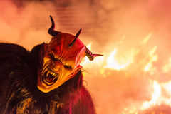 The krampus mask Stock Image
