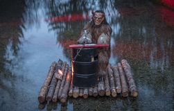 Krampus o maschera del diavolo, Salisburgo Austria Immagini Stock Libere da Diritti