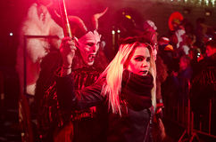 Krampus show Royalty Free Stock Photography