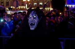 Krampus show. In Žatec 6.12.2015 Stock Images