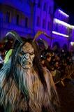 Krampus show. In Žatec 6.12.2015 Stock Photography