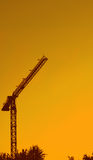 Kran. The crane on a background of a decline Stock Image