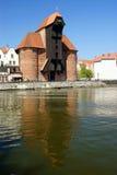 kran danzig berömda gdansk träpoland arkivfoto