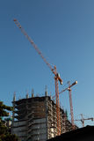 Kran an der Baustelle Stockfoto